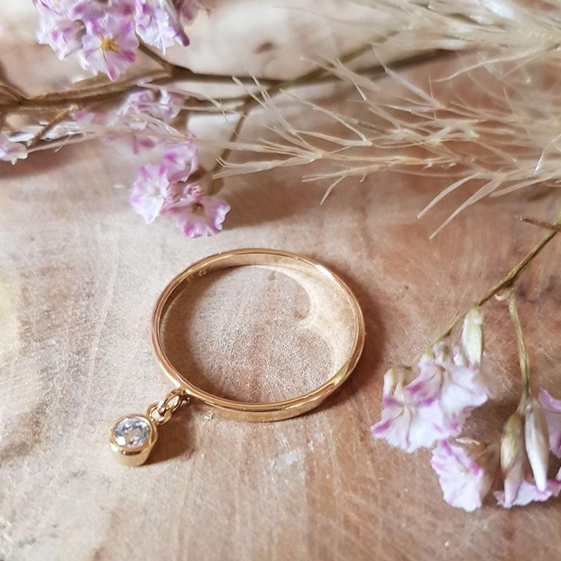 Bague anneau zirconium