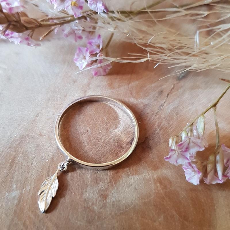 Bague anneau plume