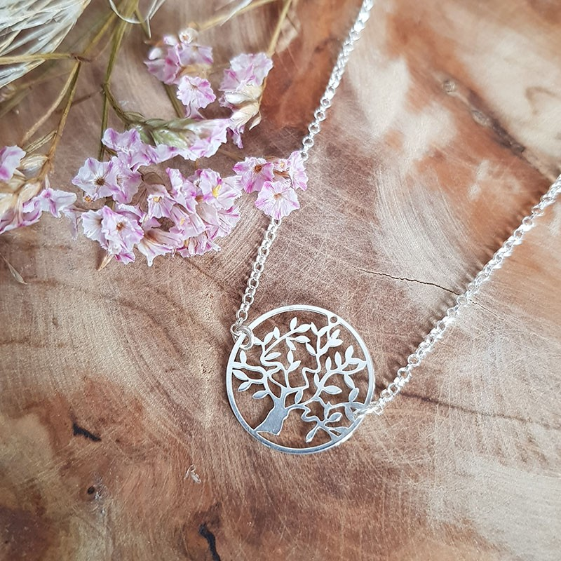 Collier arbre de vie 20 mm argent