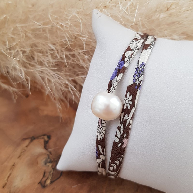Bracelet liberty perle d'eau douce