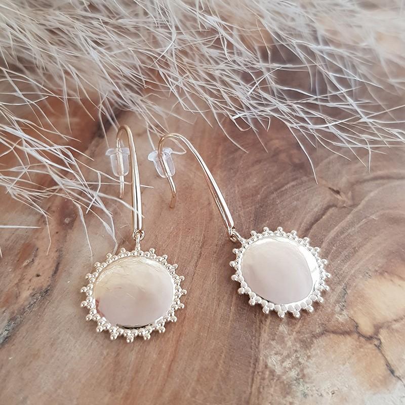 Boucles d'oreilles soleil plaqué or personnalisables